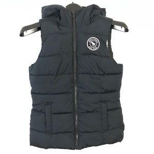 A&F fleece lined vest hooded